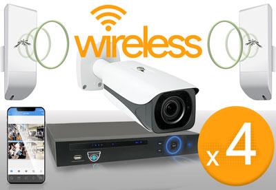 4 Camera Wireless 12MP Kit