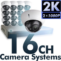 4MP 2K 16CH Camera Systems