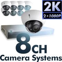 4MP 2K 8 CH Camera Systems