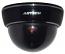 Fake Dummy Dome Security camera with Blinking LED - BLACK
