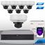 UNV Uniview 8 Ch NVR & (8) 4MP Megapixel Motorized IR Vandal Dome Kit Professional Grade
