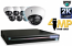 8 CH DVR with 8 HD 4MP Dome Cameras HD Kit for Business Professional Grade FREE 1TB Hard Drive