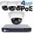 4MP IP PoE 4 Dome Camera Kit (IP2728)