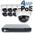 4MP IP PoE 8 Dome Camera Kit (IP2728)