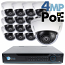 4MP IP PoE 16 Dome Camera Kit (IP2728)