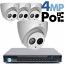 4MP IP PoE 4 Dome Camera Kit (IP5341EM)