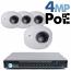 4MP IP PoE 4 Wedge Dome Camera Kit (IP2828)