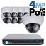 4MP IP PoE 8 Motorized Dome Camera Kit (IP41)