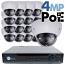4MP IP PoE 16 Motorized Dome Camera Kit (IP41)