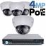 4MP IP PoE 4 Motorized Dome Camera Kit (IP41)