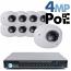 4MP IP PoE 8 Wedge Dome Camera Kit (IP2828)