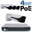 4MP IP PoE 4 Motorized Bullet Camera Kit (IP40)