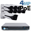 4MP IP PoE 8 Motorized Bullet Camera Kit (IP40)