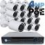 4MP IP PoE 16 Bullet Camera Kit (IP29)