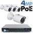 4MP IP PoE 4 Bullet Camera Kit (IP29)