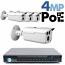 4MP IP PoE 4 Bullet Camera Kit (IP141D)