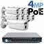4MP IP PoE 8 Motorized Bullet Camera Kit (IP141D)