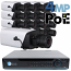 4MP IP PoE 16 Dome Camera Kit (IPBOX4)
