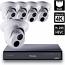 8 Ch 4K GeoVision H.265 DVR with 4 PoE Dome Cameras