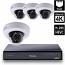 8 Ch 4K GeoVision H.265 DVR with 4 PoE Dome Cameras (EFD4700)