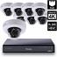 8 Ch 4K GeoVision H.265 DVR with 8 PoE Dome Cameras (EFD4700)