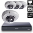 8 Ch 4K GeoVision H.265 DVR with 4 PoE Dome Cameras (EDR4700)