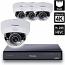 8 Ch 4K GeoVision H.265 DVR with 4 PoE Dome Cameras (EFD5101)