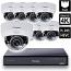 8 Ch 4K GeoVision H.265 DVR with 8 PoE Dome Cameras (EFD5101)