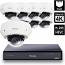 8 Ch 4K GeoVision H.265 DVR with 8 PoE Dome Cameras (EVD5100)