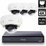 8 Ch 4K GeoVision H.265 DVR with 4 PoE Dome Cameras (EVD5100)