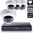 8 Ch 4K GeoVision H.265 DVR with 4 PoE Dome Cameras (VD5700)
