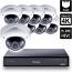 8 Ch 4K GeoVision H.265 DVR with 8 PoE Dome Cameras (VD5700)