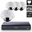 8 Ch 4K GeoVision H.265 DVR with 4 PoE Dome Cameras (VD5711)