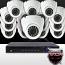 16CH IMAX NVR & Ninja 4 Megapixel IP Eyeball Dome Camera 16 Cam Kit (White)