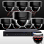 16CH IMAX NVR & Ninja 4 Megapixel IP Mini Dome Camera 8 Cam Kit