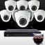 16CH IMAX NVR & Ninja 4 Megapixel IP Eyeball Dome Camera 8 Cam Kit (White)