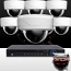 16CH IMAX NVR & Ninja 4 Megapixel IP Mini Dome Camera 8 Cam Kit (White)