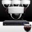 8CH IMAX NVR & Ninja 4 Megapixel IP Mini Dome Camera 4 Cam Kit (White)