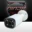 4 Megapixel IP Bullet Camera 2.7-12mm Motorized Zoom Lens IP67 196ft. Night Vision (Ninja) (White)