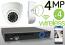 Wireless 4MP IP Eyeball Dome (4) Camera Kit (White)