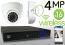 Wireless 4MP IP Eyeball Dome (16) Camera Kit (White)