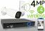 Wireless 4MP IP 2.8-13.5mm Motorized Bullet (4) Camera Kit (White)