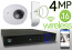 Wireless 4MP IP Wedge Dome (16) Camera Kit (IP2828)
