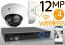Wireless 12MP IP Dome (4) Camera Kit