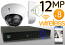 Wireless 12MP IP Dome (8) Camera Kit