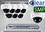16 CH XVR with (8) DX9 5 Megapixel, 3.3-12mm Varifocal Lens, 30m IR, H.265, CVBS (BNC) Optional, Analog Dome Camera